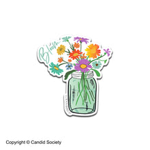Load image into Gallery viewer, Blooming Mason Jar - Clear Sticker