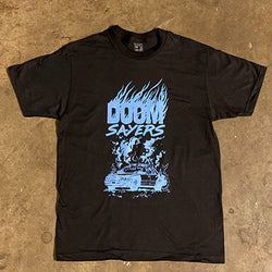 5-0 on Fire Black Tee Shirt