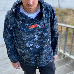 Rambo Navy Blue Camo  Windbreaker
