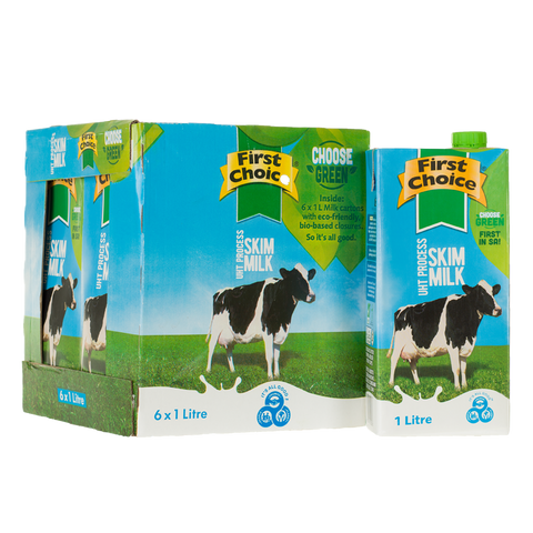 Milk | Skim Long Life  -1 x 6 pack (1L)