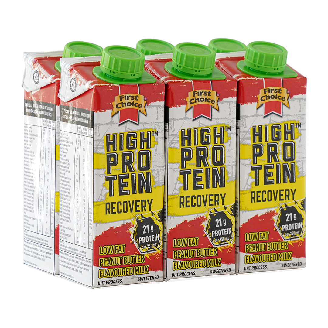 High-Protein Recovery Milk | Peanut Butter Flavoured - 1 x 6 pack (250ml)