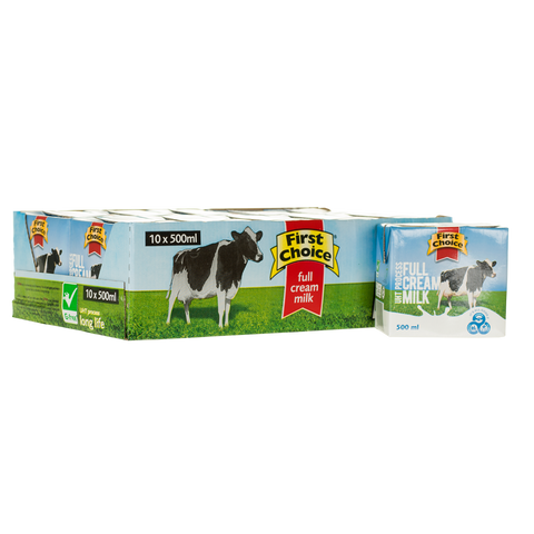 Milk | Full Cream Long Life -1 x 10 pack (500ml)