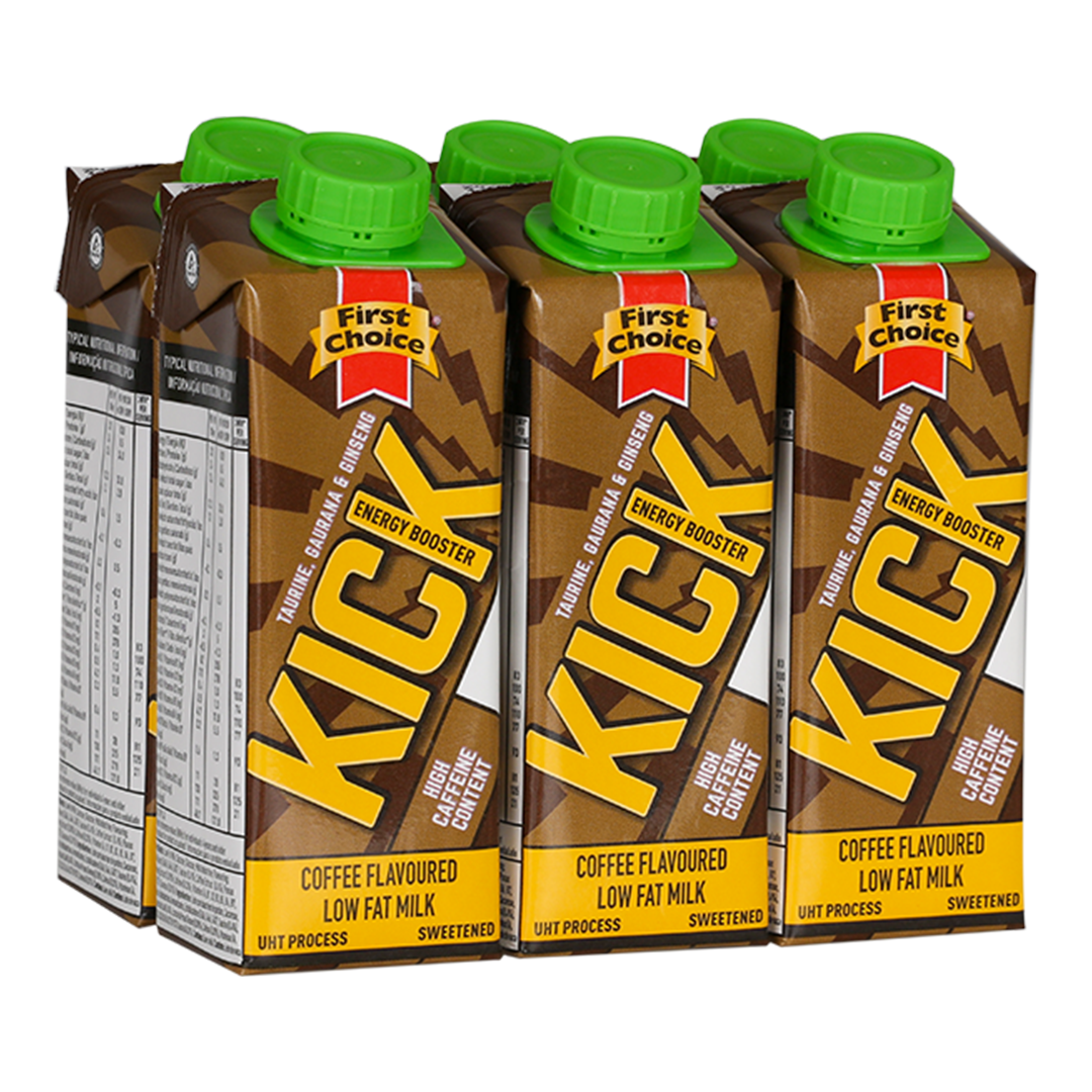 Kick Energy Booster | Coffee flavoured - 1 x 6 pack (250ml)