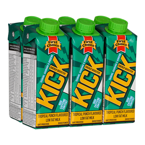 Kick Energy Booster | Tropical Punch flavoured - 1 x 6 pack (250ml)