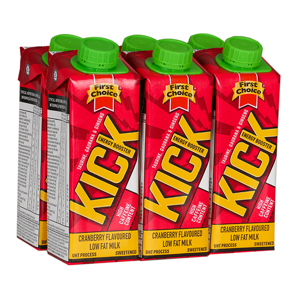 Kick Energy Booster | Cranberry flavoured - 1 x 6 pack (250ml)