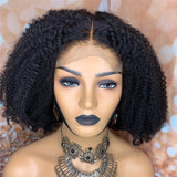 13x6 Lace Front Human Hair Wigs With Baby Hair 150% Density Mongolian Afro Kinky Curl Remy Brazilian - LUXURY FABULOUS COLLECTION