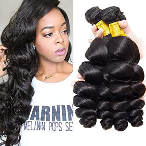ENERUAL BEAUTY Indian Hair Loose Wave Human Hair Bundles 8-30inch - Enerual Beauty
