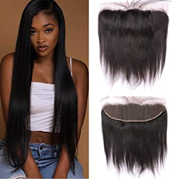 Enerual Beauty Hair Frontal 13*4 Lace Frontal Medium Brown/Transparent Brazilian Straight Hair - Enerual Beauty