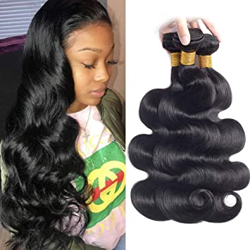 ENERUAL BEAUTY Brazilian Body Wave Hair Bundles Natural Color 100% Human Hair 1/3/4 Piece 8-30