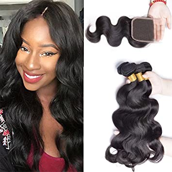Enerual Beauty Hair Body Wave Brazilian Hair 7x7 Lace Closure With Bundles Hair - LUXURY FABULOUS COLLECTION