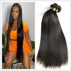 "ENERUAL BEAUTY Brazilian Straight Hair Bundles Natural Color 100% Human Hair 1/3/4 Piece 8-30"" - LUXURY FABULOUS COLLECTION"