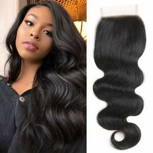 Enerual Beauty Hair Brazilian Transparent Lace 7x7 Closure Body Wave  color natural - LUXURY FABULOUS COLLECTION