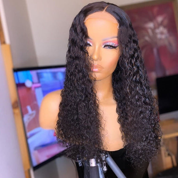 Red Burgundy Deep Wave Lace Front Wig Curly Blonde Lace Wig Human Hair 150% Density Wig Preplucked - LUXURY FABULOUS COLLECTION