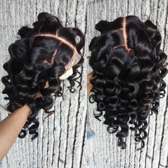 Lace Front Curly Human Hair Wig Braided Brown Short Brazilian Remy 150% Density Pre Plucked - Enerual Beauty