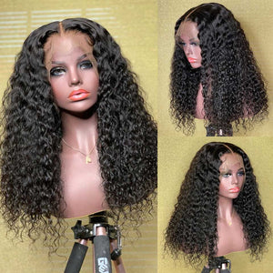 Curly Lace Front Human Hair Wigs 13X6 Deep Part Lace Front Wigs Remy Lace Wig 150% Density - LUXURY FABULOUS COLLECTION