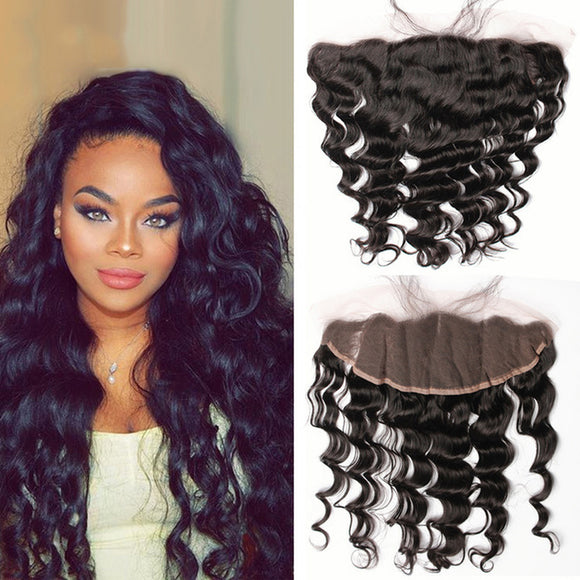 Enerual Beauty Hair 13*6 Transparent Lace Frontal Natural Wave Human Hair Pre Plucked Brazilian - Enerual Beauty