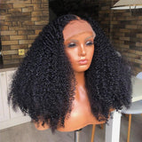 Afro Kinky Curly Wig 13X6 Lace Front Human Hair Mogonlian Remy Lace Wig Preplucked With Baby Hair - LUXURY FABULOUS COLLECTION