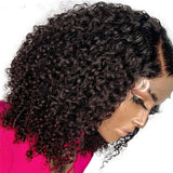 Lace Front Human Hair Wigs With Baby Hair Pre Plucked Brazilian Curly Remy Hair Short Cut Bob Wigs - LUXURY FABULOUS COLLECTION