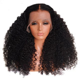 Mongolian Afro Kinky Curly Lace Front Wig 13X6 Deep Part Human Hair Wig 150% Density Pre Pluck Remy - LUXURY FABULOUS COLLECTION