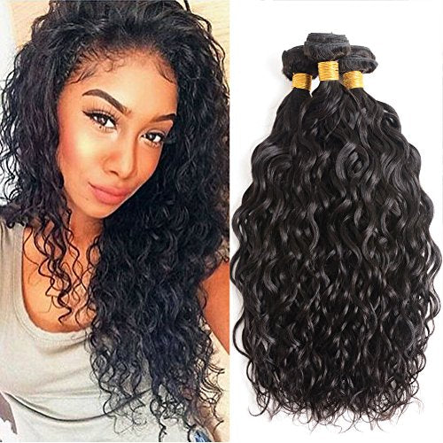 ENERUAL BEAUTY  Water Wave Malaysian Human Hair  1/3/4  100% Natural Color  8-26inch - Enerual Beauty