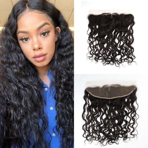 Enerual Beauty Hair Frontal 13*4 Lace Frontal Medium Brown/Transparent Brazilian Natural Wave - LUXURY FABULOUS COLLECTION