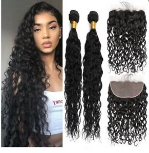 Enerual Beauty Hair 13*4 Transparent Lace Frontal /Medium Brown  Natural Wave With Frontal Brazilian - LUXURY FABULOUS COLLECTION
