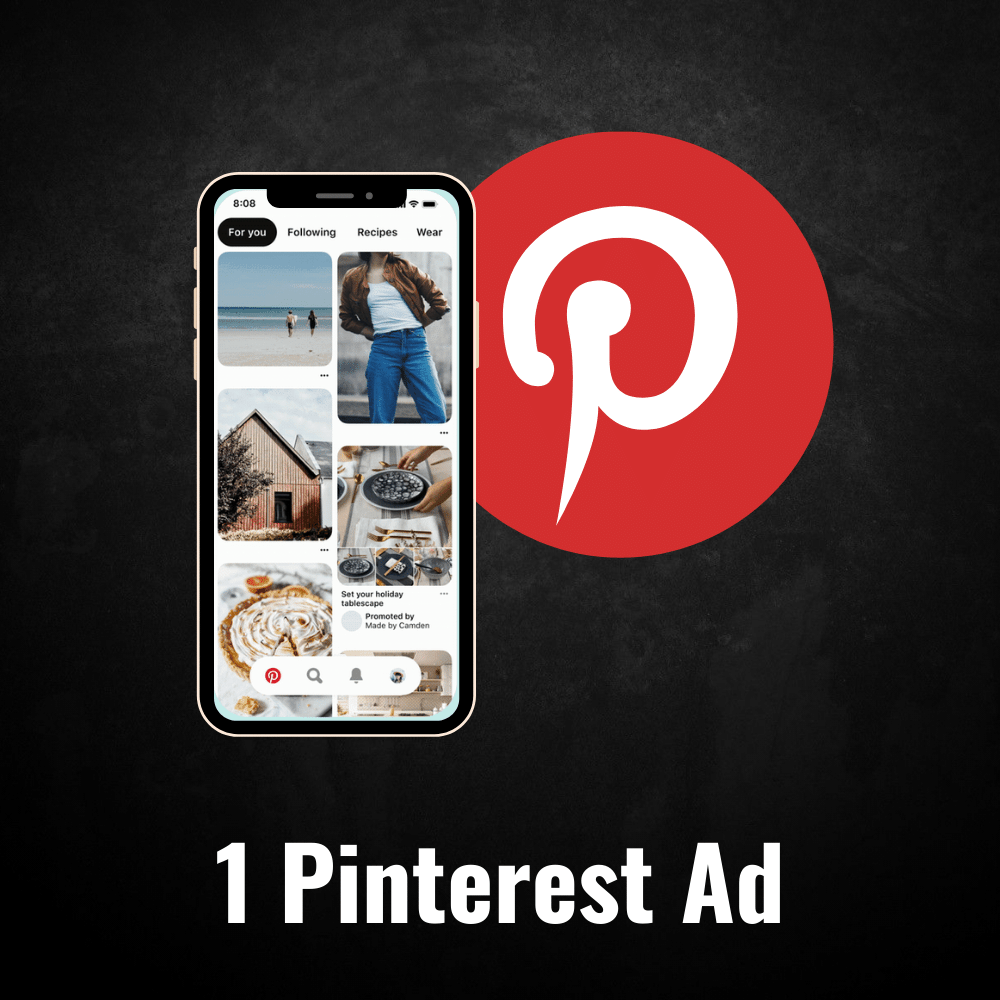 1 Pinterest Ad - Top Notch Adz™
