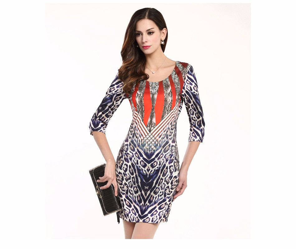 Women's Apparel Half Sleeves Dress