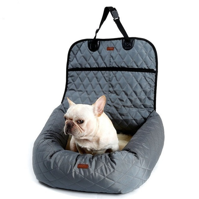 Pet Dog Carrier Folding Car Seat Pad Safe Carry