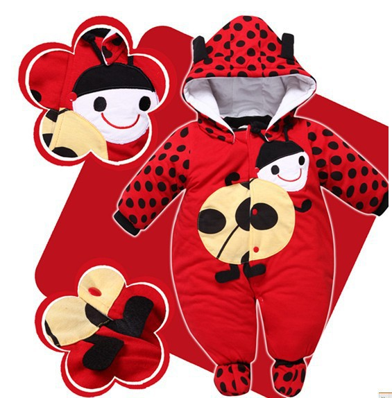 Cute Thick Warm Hooded Jumpsuits