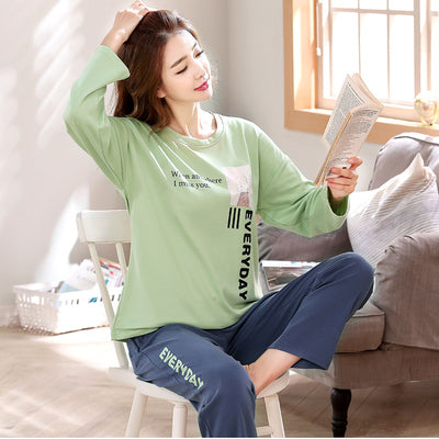 Autumn Cotton Cartoon Sleepwear