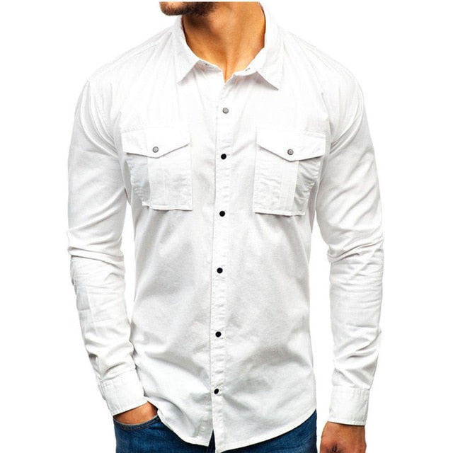 Men's Long Sleeve Vintage Shirt