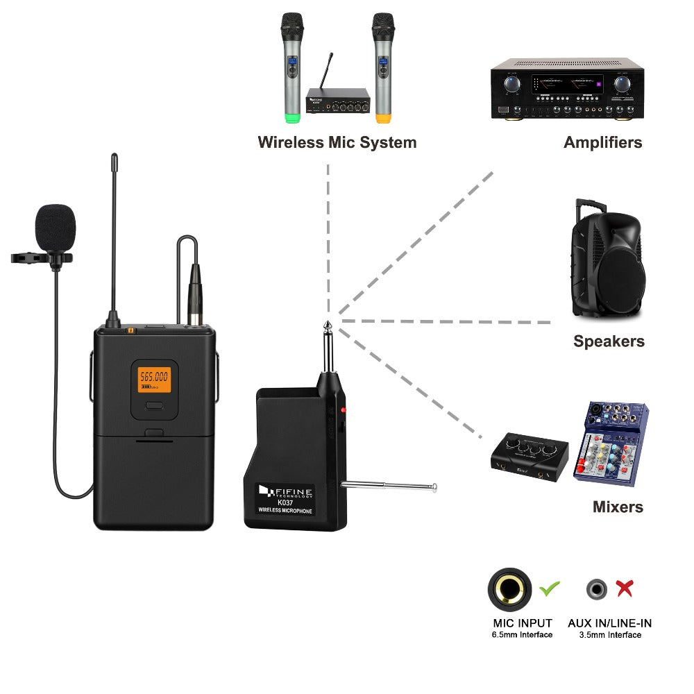 20-Channel UHF Wireless Microphone
