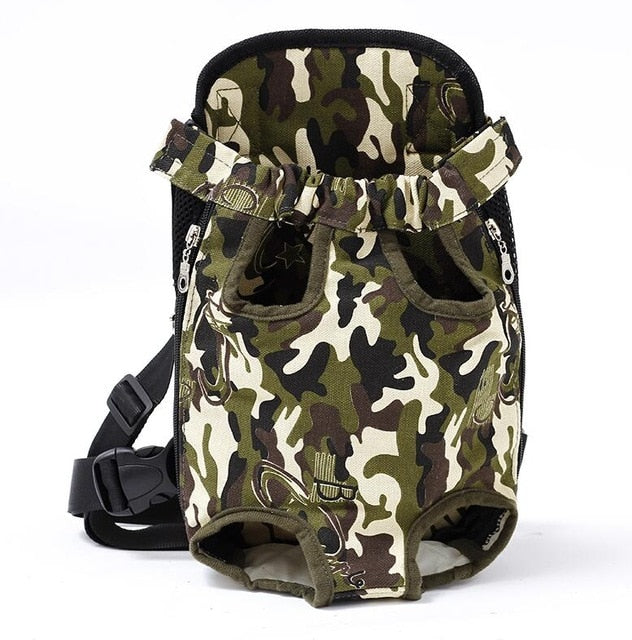 Pet Dog Carrier Backpack Mesh Camouflage Outdoor