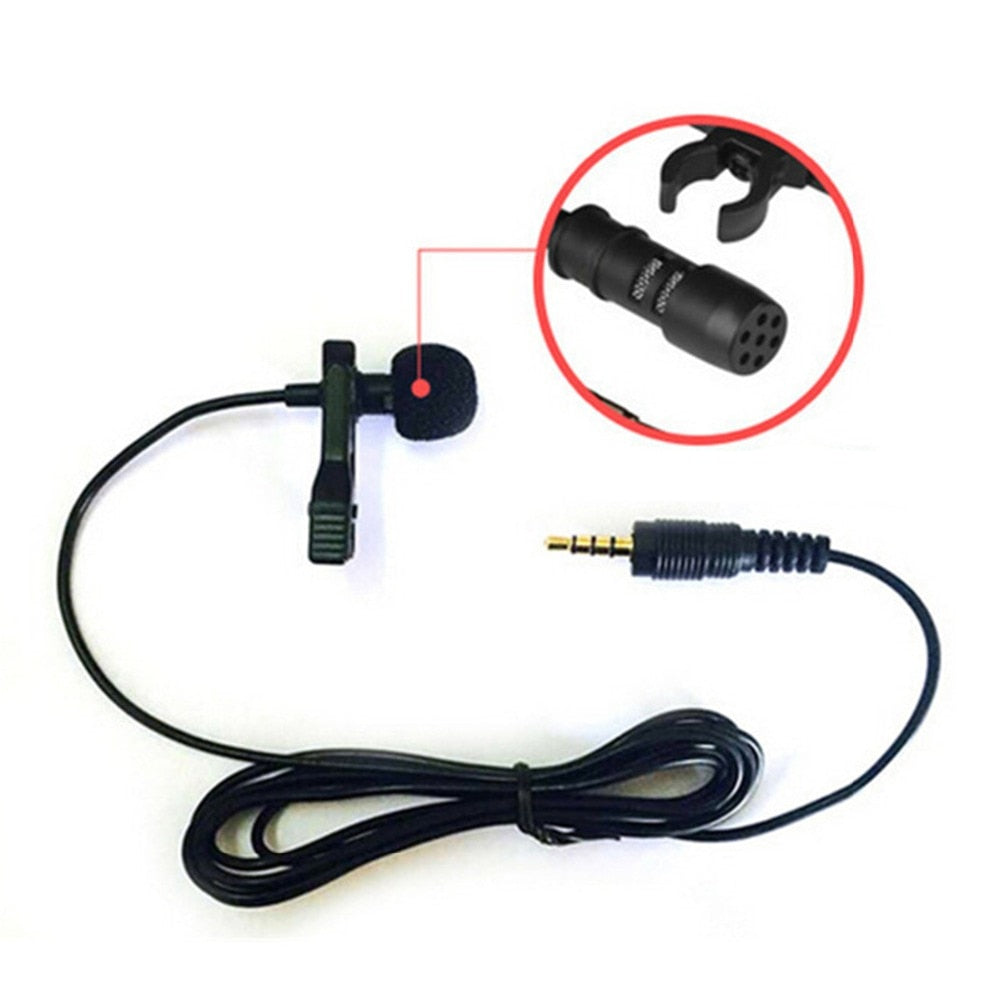 Clip-on Lapel Lavalier Microphone