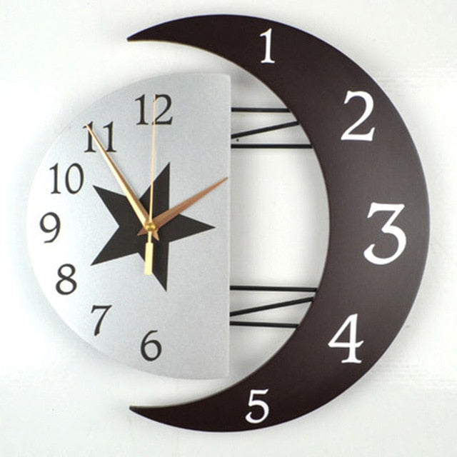 3d Creative Metal Wall Clock