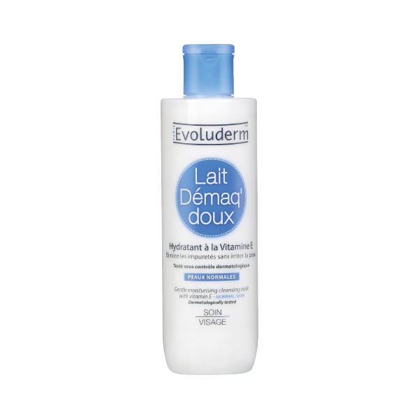 LECHE DESMAQUILLANTE PIEL NORMAL CON VITAMINA E X250ml - EVOLUDERM