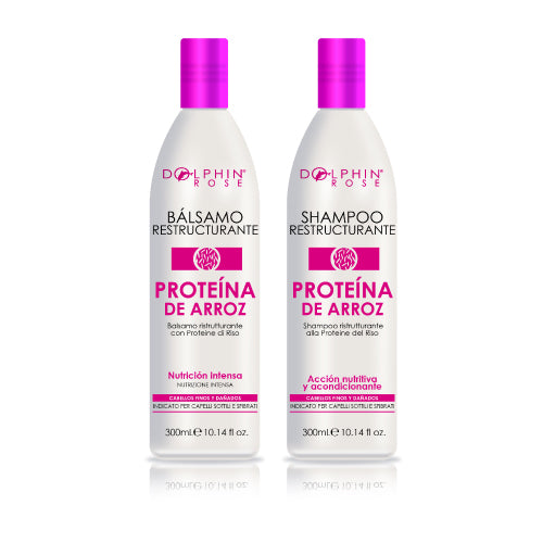 KIT LÍNEA PROTEÍNA DE ARROZ X 300ML - DOLPHIN ROSE