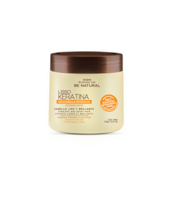 MASCARILLA LISO KERATINA X350GR -  BE NATURAL
