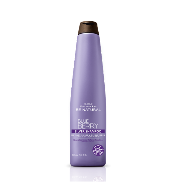 SHAMPOO SILVER BLUEBERRY X350 ML - BE NATURAL