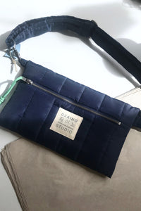 Cross Bag Puffa Blue with front Logo