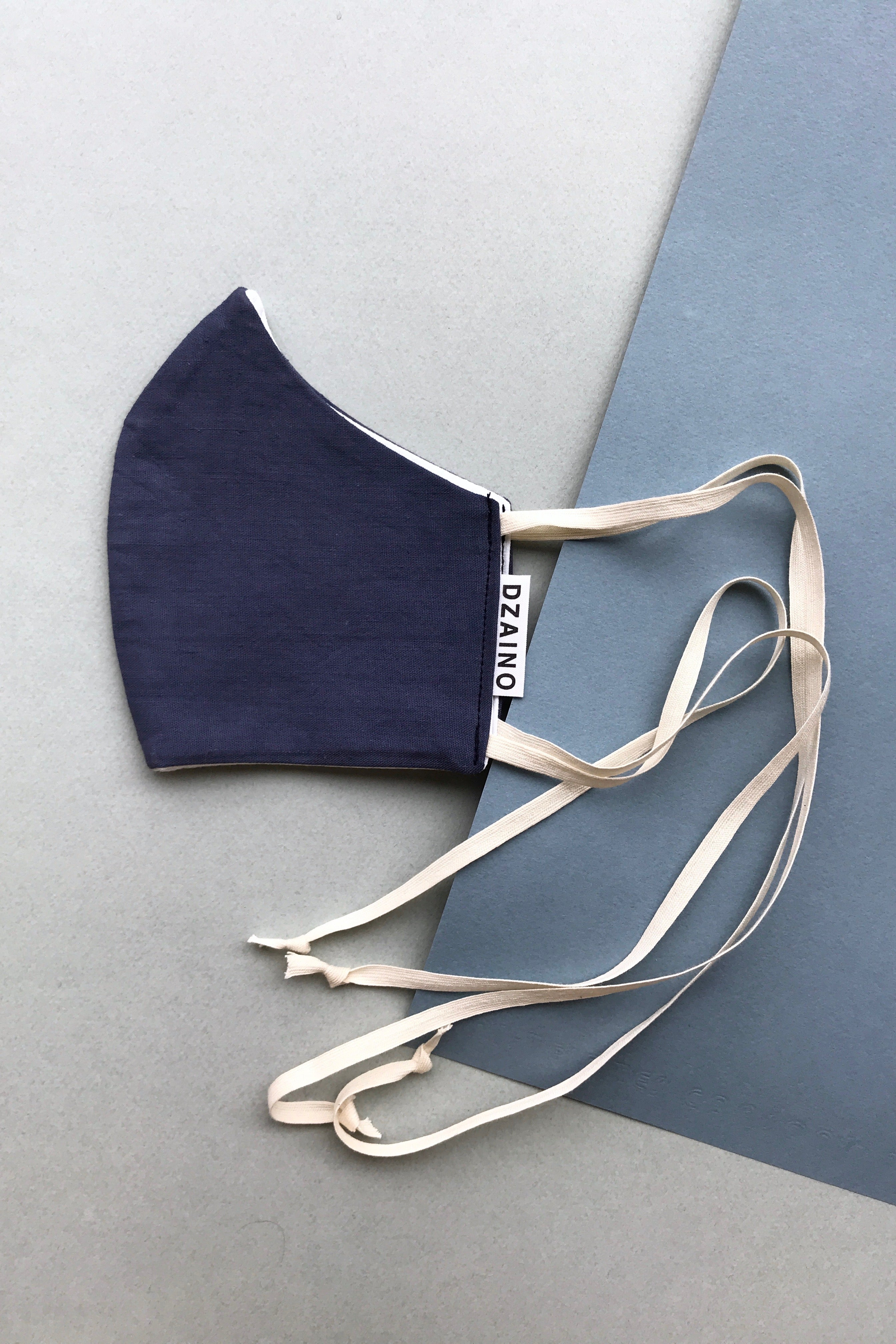 Mask Dark Blue with ribbon