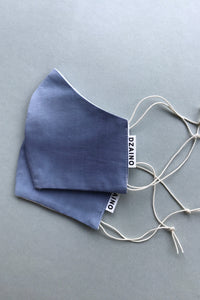 Mask Foggy Blue with elastic cords