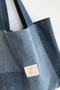 Mini Shopper Denim Patchwork