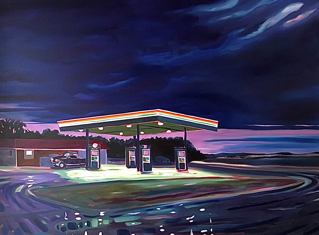 Gas Station Thunderstorm