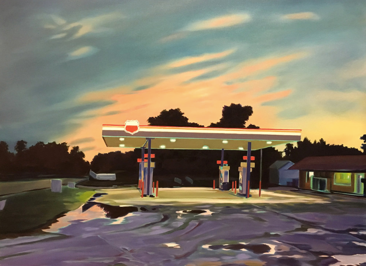 Gas Station After Rain