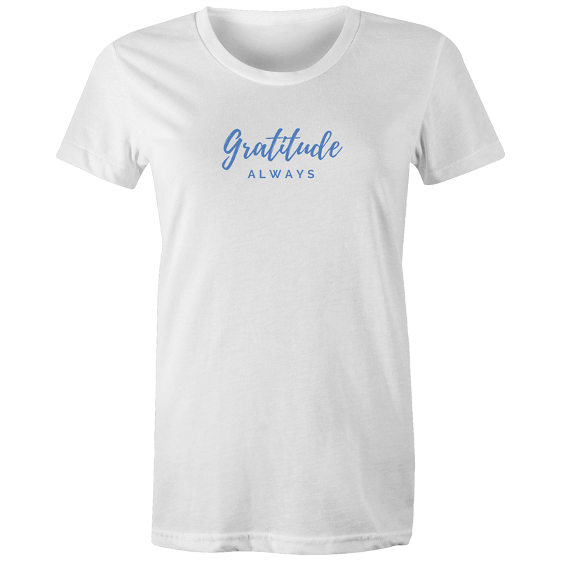 Gratitude Always Blue Etiko AU 100% Organic Cotton T-shirt - Papaya Lane
