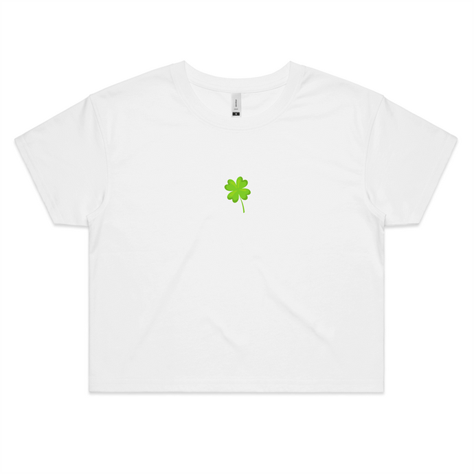 Lucky St Patricks Shamrock Crop Top - New - Papaya Lane