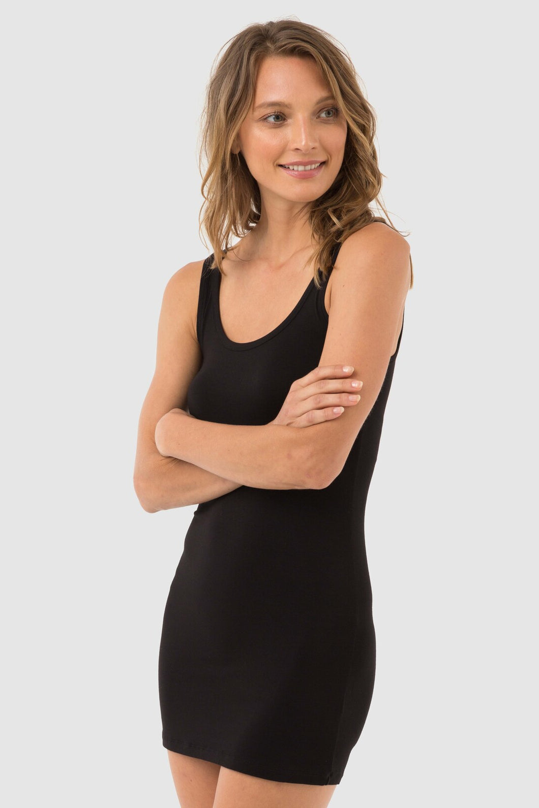 Lola Bamboo Slip Dress - Little Black Dress - Bamboo Body - Papaya Lane