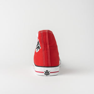 Vegan High Top Red Sneakers Organic Fairtrade - Red High top - Canvas sneakers - Papaya Lane